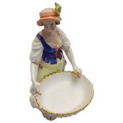 19th Century German Royal Porcelain Manufactory 'KPM' Girl with Basked