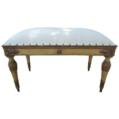 Italian Neoclassical Style Painted and Gilt Bench