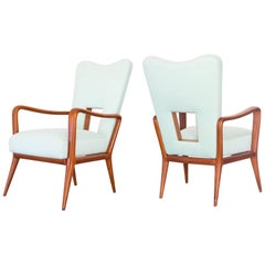 1950s Pair of Armchairs in Cabreúva Wood Produced by Luiz Pássaro, Brazil Modern