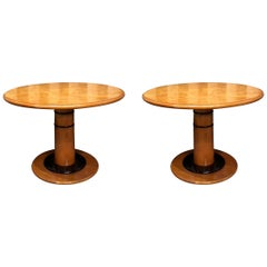 Art Deco Custom Round Coffee Side Tables