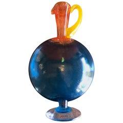 """Bon Bon"" Art Glass Ewer or Pitcher by Kjell Engman or Kosta Boda"