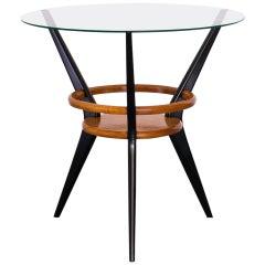 Side Table in Pau Marfim and Ebonized Wood, Brazil, 1950s