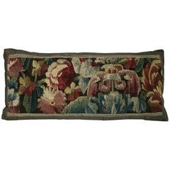 Antique Brussels Tapestry Pillow, circa 17th Century 643p