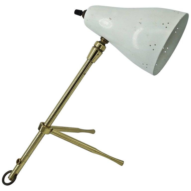 Midcentury Vintage Original 1950s Pinocchio Lamp Sconce Giuseppe Ostuni Oluce