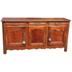 Country French Louis XV Sideboard or Buffet Solid Cherrywood 18th Century Period