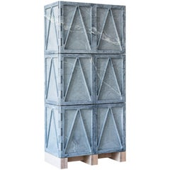 Limited Edition Relief Stone Cabinet in Soapstone by Fort Standard