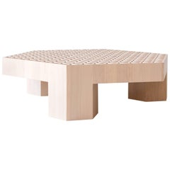 Limited Edition Assemblage Wood Coffee Table in Maple by Fort Standard