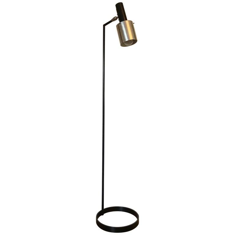 Mid-Century Modern Architectural Iron Lamp
