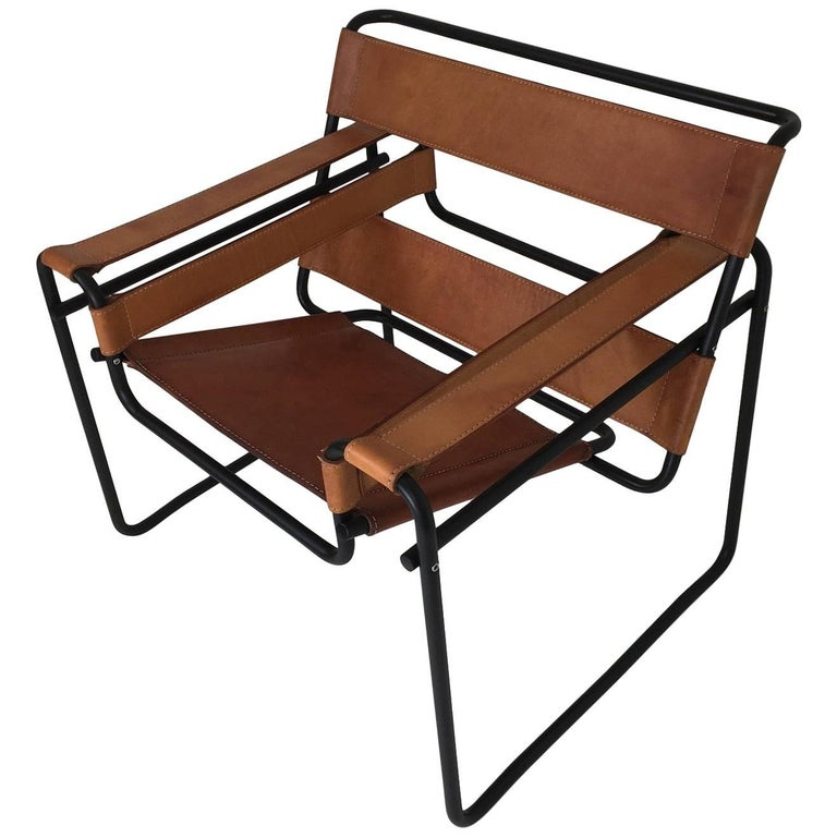 Reconditioned Marcel Breuer Wassily Chair with Black Frame