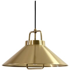 Midcentury Ceiling Light in Brass by Lyfa, 1960s