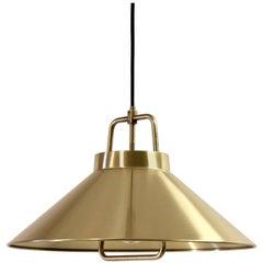 Midcentury Ceiling Light in Brass by Lyfa, 1960s