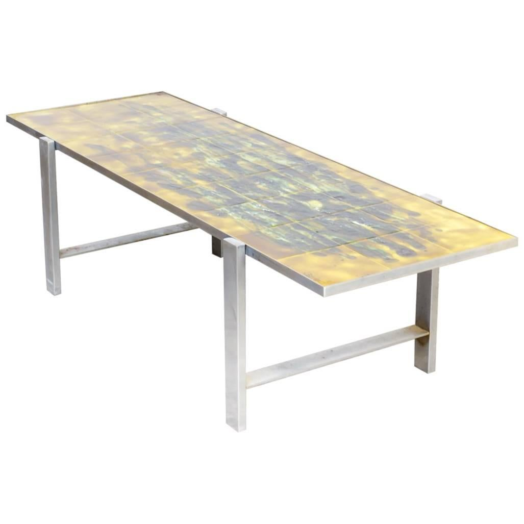 1960s Juliette Belarti Hand Painted Coffee Table For Sale
