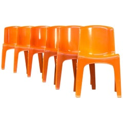 Gilac Design Stackable Chair First Edition, Set of Six