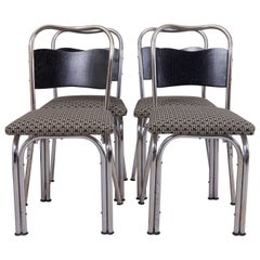 Completely Restored Functionalism German Set of Chairs, Four Pieces, Chrome