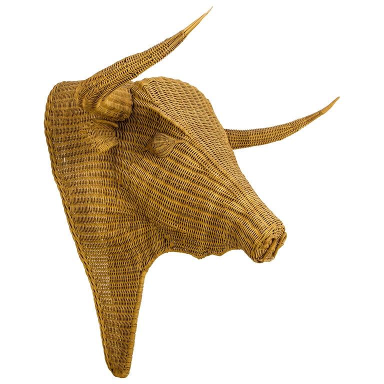 Bull Head Wall Sculpture, France, circa 1960