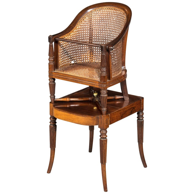 Regency Period Child's Chair on Stand For Sale
