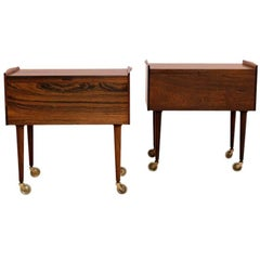 Pair of Side Midcentury Tables by Danish Cabinetmaker A. Andersen & Bohm