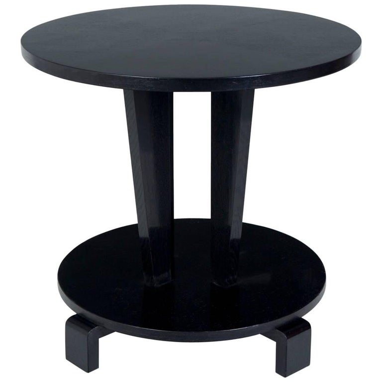 cubism furniture. Restored Small Czechoslovakia Cubism Black Coffee Table, Period 1910-1919 Furniture