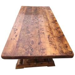 Refectory Table, Farmhouse Table Elm