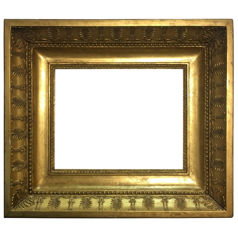 Late 19th Century Italian Neoclassical Wood Frame with Gold Leaf ...