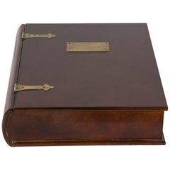 Unusual Mahogany Book-Shaped Box