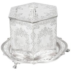 Antique Victorian Silver Plated Biscuit / Sweet Box, 19th Century