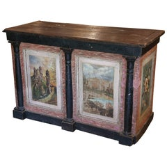 19th Century French Empire Painted Comptoir Counter