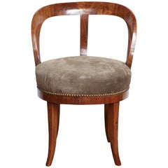 Early 19th Century Viennese, Walnut Armchair