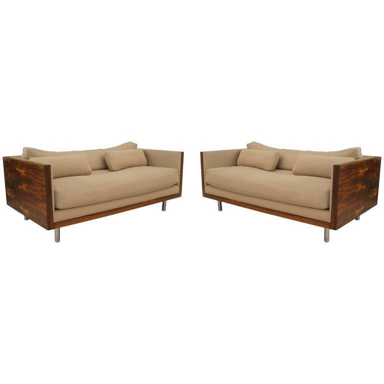 American Postwar Design Rosewood Loveseats