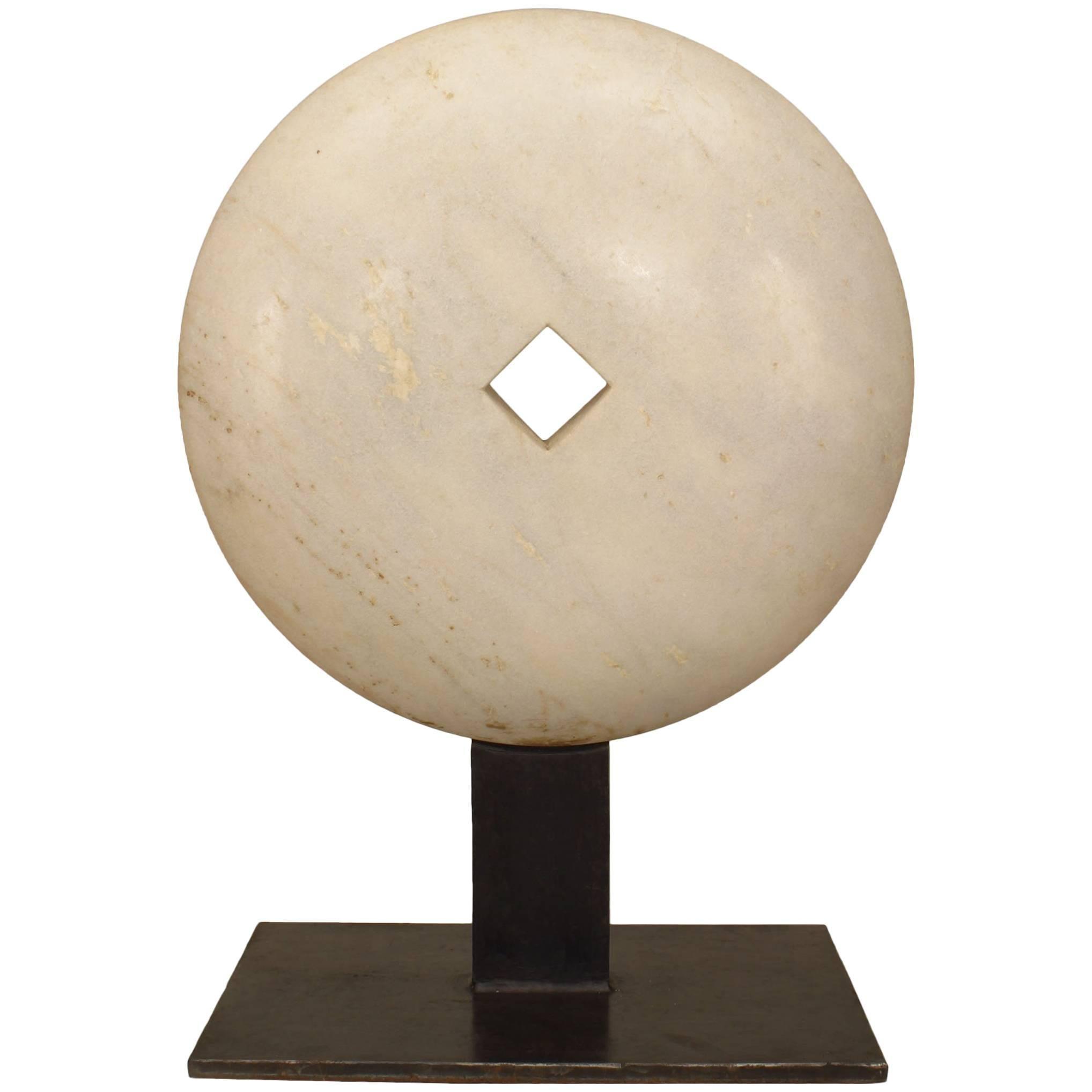 American Post-War Marble Disk Sculpture