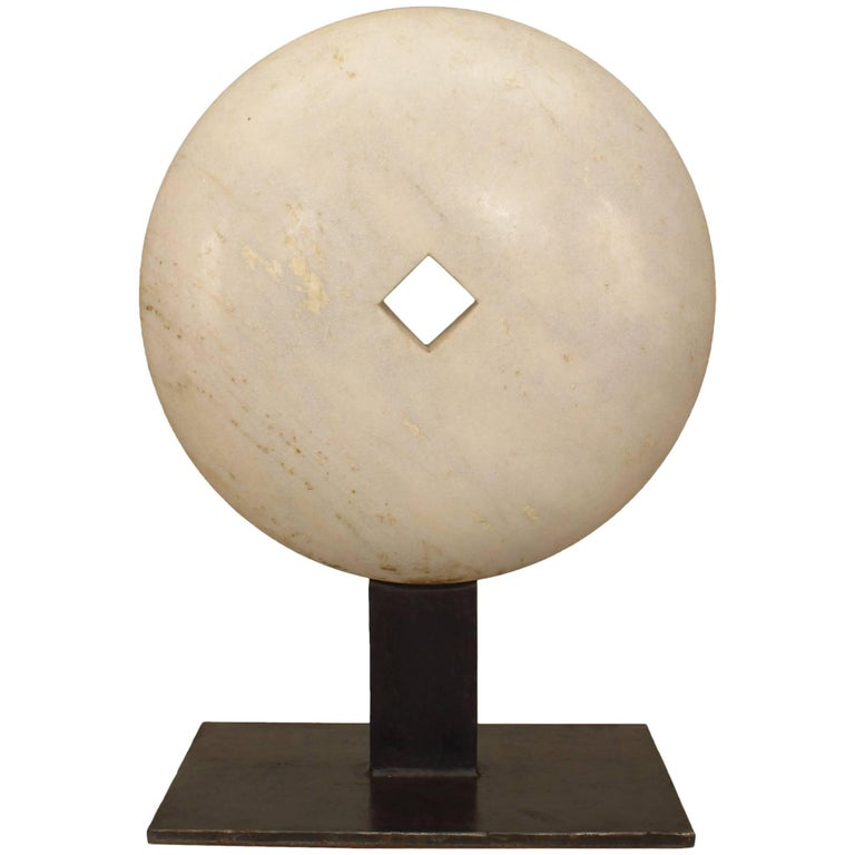 American Post-War Marble Disk Sculpture For Sale