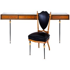 Console and Chair by Hans Wauer, Munich, 1950s