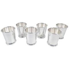 Set of Six Preisner Sterling Silver Mint Julep Cups