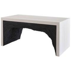 Strata 3 Bench, White Cement and Black Silica by Fernando Mastrangelo