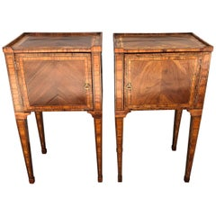 Pair of Late 18th Century Neoclassical Italian Commodes/End Tables