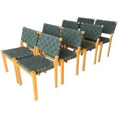 Set of Eight Alvar Aalto Dining Chairs