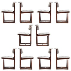 Rosewood Midcentury Dining Chairs, Set of Ten