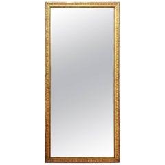 Louis XVI Giltwood Mirror