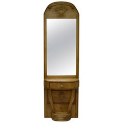 Pine and Beechwood Pier or Console Mirror