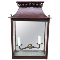 Late 19th-Early 20th Century Regency Style Tole Wall Lantern