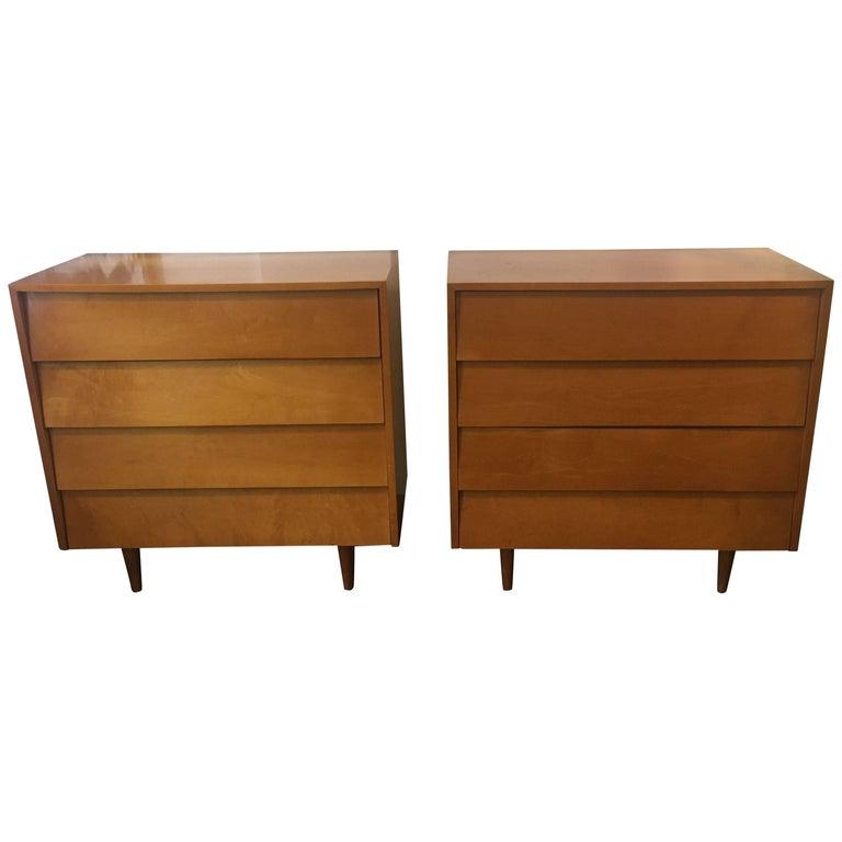 Florence Knoll Pair of Dressers or Chests, 1950 For Sale