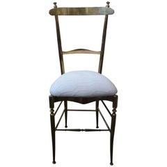 Italian Brass Chiavari Campanino Chair by Di Sanguineti, circa 1960