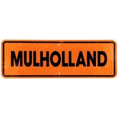 Rare Mulholland Street Sign