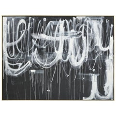 """Hidden Figures #3"" Gray and White Original Painting by Karina Gentinetta"