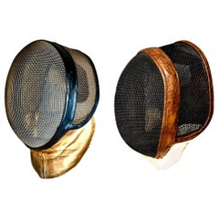 Pair of Vintage Fencing Masks