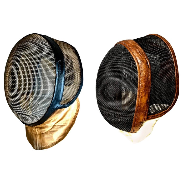Pair of Vintage Fencing Masks