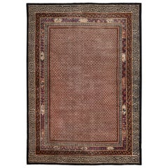 Shabby Chic Antique Mongolian Rug