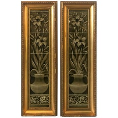 Pair of Aesthetic Movement Framed Tiles