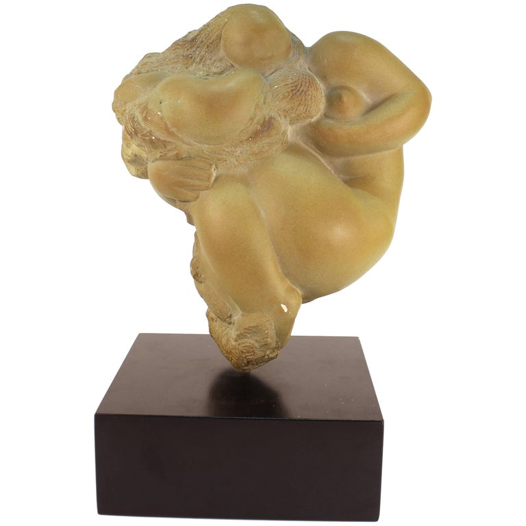Mid-Century Modern Sculpture of Mother and Child in Style of Gaston Lachaise
