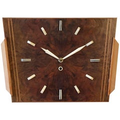 Art Deco Wooden Wall Clock